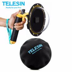 Telesin 6 Dome Port Cover Waterproof Case Housing For Gopro Hero 5 6 Black Free Soft Dome Cover Review