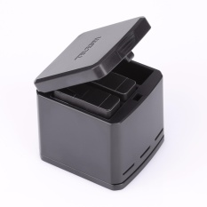 Telesin Triple Charger Charging Dock Storage Case Box for Gopro Hero 5, 3 Channels Multi
