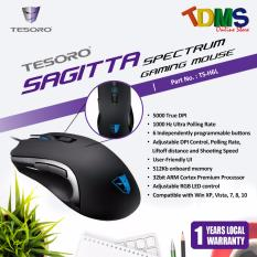 Price Compare Tesoro Sagitta Spectrum Performance Black Optical Gaming Mouse 5000 Dpi Sensor 6 Buttons Rgb Led Excellent Choice For Fps Moba And Rts Games