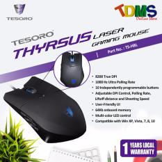 Review Tesoro Thyrsus Black Laser Gaming Mouse 10 Buttons 8200Dpi 1000Hz Rgb Led Backlight Designed Especially For Mmo Tesoro On Singapore