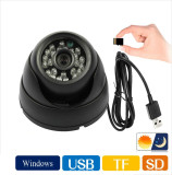 Discount Tf Card Digital Video Recorder Usb Security Dome Camera Intelligent Detection And 24Led Infrared Night Vision Oem On China