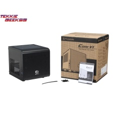 Promo Thermaltake Core V1 Mini Itx Cube Chassis Black Compatible With Air And Liquid Cooling Builds Ca 1B8 00S1Wn 00
