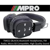 Tm022 Wireless Bluetooth Over Ear Headphones Micro Sd Card Support Handsfree Stereo Headset Singapore Seller Black Universal Discount