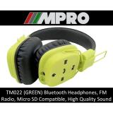 Buy Tm022 Wireless Bluetooth Over Ear Headphones Micro Sd Card Support Handsfree Stereo Headset Singapore Seller Green Cheap On Singapore