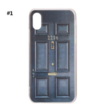 Toprank Door Printing Slim Soft Mobile Cell Phone Protection Case Cover for iPhone 6/6s/6P/7/7S/7P/8/8P/X