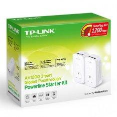 Top Rated Tp Link Tl Pa8030P Kit Av1200 3 Port Gigabit Passthrough Powerline Starter Kit
