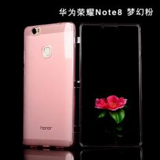 TPU + Acrylic Transparent Flip Cover Case for Huawei Honor Note 8 / Honor V8 Max [Pink] - intl