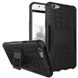 Brand New Tpu Pc Armor Hybrid Case Cover For Oppo F1S Black Intl