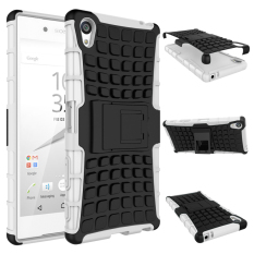 Cheap Tpu Pc Armor Hybrid Case Cover For Sony Xperia Z5 Premium White Online