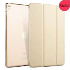 Sale Transparent Back Ultra Slim Light Weight Auto Wake Up Sleep Smartcover Tri Fold Protective Pu Leather Case For Ipad Pro 9 7Inch Gold Intl Oem Cheap