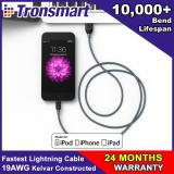 Deals For Tronsmart 19Awg Double Braided Nylon Lightning Cable 4Ft 1 2M
