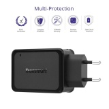 Cheaper Tronsmart 39W Dual Usb Port Wall Charger Quick Charge 3 Travel Charger With Voltiq Technology And Led Indicator Black Plug Standard Us Plug Intl