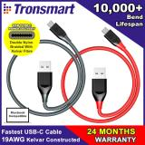 Best Deal Tronsmart Double Nylon Braided With Kelvar Fibre Usb C Charging Syncing Cable Usb C To Usb A 1 0M