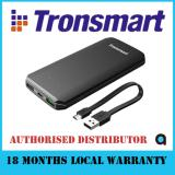 Tronsmart Edge 10000Mah Quick Charge 3 Power Bank Black In Stock