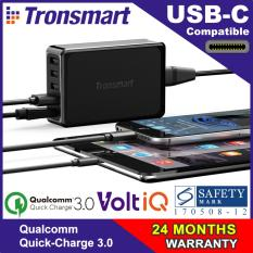 Tronsmart Quick-Charge 3.0 5-Port Multi-Usb Charger (u5pta) (sg 3pin Plug) By Rareus Singapore.