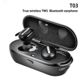 Who Sells True Wireless T03 Stereo Bluetooth Earphones With Charge Box Csr 4 1 Handsfree Headset Dual Bluetooth Earbuds Black Intl