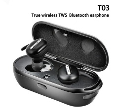 For Sale True Wireless T03 Stereo Bluetooth Earphones With Charge Box Csr 4 1 Handsfree Headset Dual Bluetooth Earbuds Black Intl