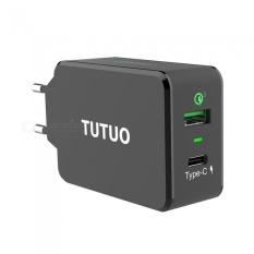 Buy Tutuo 33W Qc3 Type C Quick Charge 3 Wall Usb Charger Eu Plug Intl Cheap China
