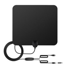Tv Antenna Indoor Hd Digital Tv Antenna With 80 Miles Long Range Amplifier Hdtv Signal Booster Upgraded Version 10Ft Coax Cable F Male W Iec Converter Intl On Line