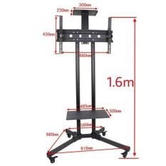 Recent Tv Mobile Stand With Wheels 1 6M Black