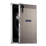 Get The Best Price For Ty Metal Bumper Wire Drawing Back Cover Case For S Ony Xperia Xz Silver Intl