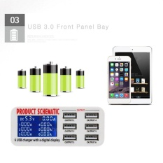 Best Price Ubest 30W 6A Six Ports Usb Desktop Fast Charger Station With Lcd Screen Display Intl