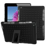 Ueknt Heavy Duty Tpu Pc Hybrid Armor Back Cover With Kickstand Shockproof Case For Apple Ipad 2 Ipad 4 Ipad 3 Black Intl Shop