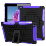 Best Price Ueknt Heavy Duty Tpu Pc Hybrid Armor Back Cover With Kickstand Shockproof Case For Apple Ipad 2 Ipad 4 Ipad 3 Purple Intl