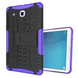 Best Reviews Of Ueknt Heavy Duty Tpu Pc Hybrid Armor Back Cover With Kickstand Shockproof Case For Samsung Galaxy Tab E 9 6 Purple Intl