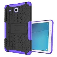Buy Ueknt Heavy Duty Tpu Pc Hybrid Armor Back Cover With Kickstand Shockproof Case For Samsung Galaxy Tab E 9 6 Purple Intl Ueknt Original