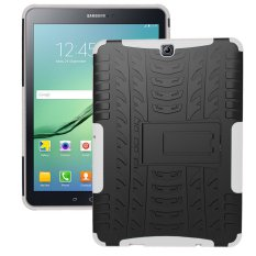 Ueknt Heavy Duty Tpu Pc Hybrid Armor Back Cover With Kickstand Shockproof Case For Samsung Galaxy Tab S2 9 7 White Intl Coupon