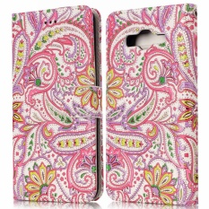Low Price Ueknt Pu Leather Folio Case For Samsung Galaxy J2 Prime Wallet Flip Stand Cover Case Card Slots Embossed With Flower Design Intl