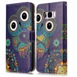 Brand New Ueknt Pu Leather Folio Case For Samsung Galaxy S8 Owl Wallet Flip Stand Cover Case Card Slots Embossed With Owl Design Intl