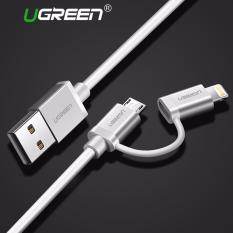 Ugreen 1M Apple Mfi Certified 2 In 1 Dual Connector Lightning To Micro Usb Sync And Charge Cable Silver Best Price
