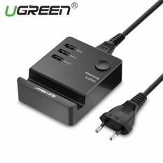 Deals For Ugreen 20W 3 Port Usb Wired Wall Charger With Cradle Eu Plug Black