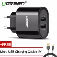 For Sale Ugreen 5V3 4A Universal Usb Wired Wall Charger With Free 1M Micro Usb Charging Cable Black Eu Plug