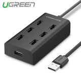 Great Deal Ugreen 7 Port Usb 2 Hub Splitter With Micro Usb Charging Interface 1 5M Black