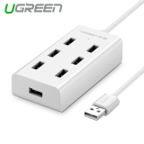 Ugreen 7 Port Usb 2 Hub Splitter With Micro Usb Charging Interface 1 5M White Cheap
