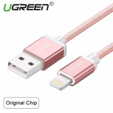 Recent Ugreen Metal Alloy Original Usb Lightning Cable Usb Charger Cord Nylon Bradied Design For Iphone 4 5 6 7 Ipad Rose Gold 1M Intl