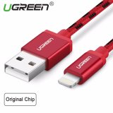 Retail Price Ugreen Metal Alloy Usb Lightning Cable Usb Charger Cable Nylon Bradied Design For Iphone 4 5 6 7 Ipad Red 1M Intl