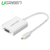 Buy Ugreen Micro Hdmi To Vga Adapter With 3 5Mm Audio Mirco Usb Port Aluminum Case Ugreen