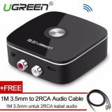 Wholesale Ugreen Mini Bluetooh 4 1 Audio Receiver 2Rca Wireless Music Adapter With 3 5Mm To 2Rca Audio Cable For Car Speaker Intl