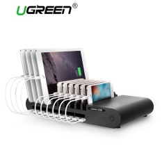 Shop For Ugreen Powerbus Charging Station 10Ports 96W 18A Usb Uiniversal Charger Dock With Holder For Phone Tablet Pc For Home Public Black Eu Plug Intl