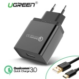 Where Can You Buy Ugreen Qualcomm Certified Quick Charge 3 18W Usb Wall Charger Phone Charger With Free 1M Type C Data Sync Charger Cable Black Intl