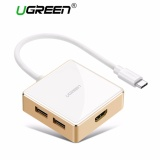Ugreen Usb C To Vga Adapter Type C To Usb A 3 Port Hub For New Macbook Macbook Pro 2016 Google Chromebook Pixel 2015 Dell Xps 13 Dell Xps 15 Asus Zen Aio Etc White Intl Sale