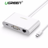 List Price Ugreen Usb C To Vga Ethernet Adapter With Usb 3 Usb 2 Hub Type C For Power Delivery Lan Adapter For 12 Inch Macbook Chromebook Pixel Matebook And Other Usb Type C Devices Intl Ugreen