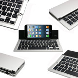 Ultra Slim Folding Mini Portable Aluminum Wireless Bluetooth Keyboard For Iphone Ios Android Windows System Tablet Smartphone Black Intl Shop