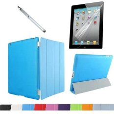 Great Deal Ultra Slim Magnetic Front Smart Cover Skin Shell Transparent Matte Back Case Cover With Clear Screen Protector Film And Stylus Pen For Apple Ipad 2 3 4 Intl