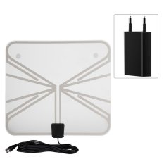 Ultra Thin 50 Miles Range Indoor Amplified Digital Tv Hdtv Antenna With 16Ft Cable Eu Plug Intl On Line