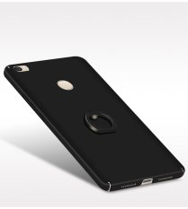 Ultra-Thin Matte PC With Metal Ring Case Cover For Xiaomi Mi Max (Black
